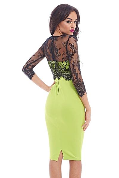 limegrøn kjole